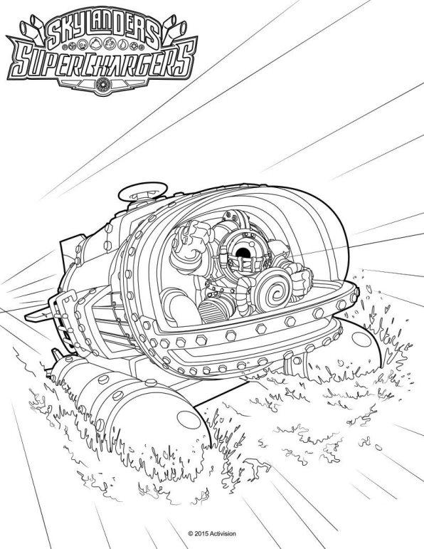 Kleurplaten Skylanders Superchargers.Skylander Superchargers Kleurplaat Jouwkleurplaten