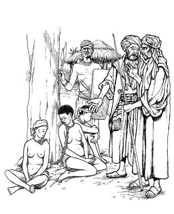 Slave traders coloring page