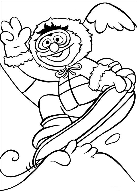 Snowboarding (1) målarbok