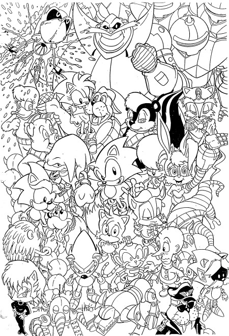 Sonic Kleurplaten Printen.Sonic X Kleurplaat Jouwkleurplaten