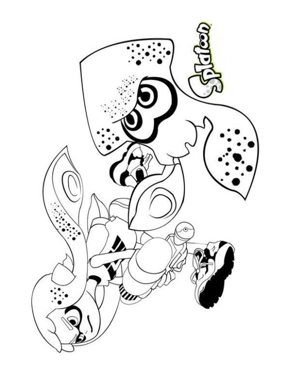 Splatoon (5) kleurplaat