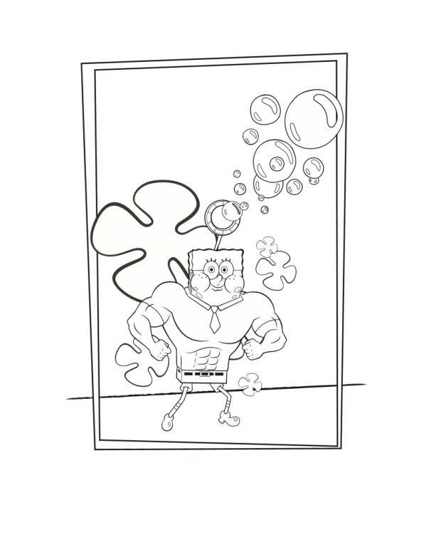 spongebob (36) coloring page