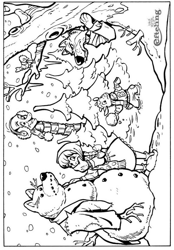 Fairy-tale tree (7) coloring page