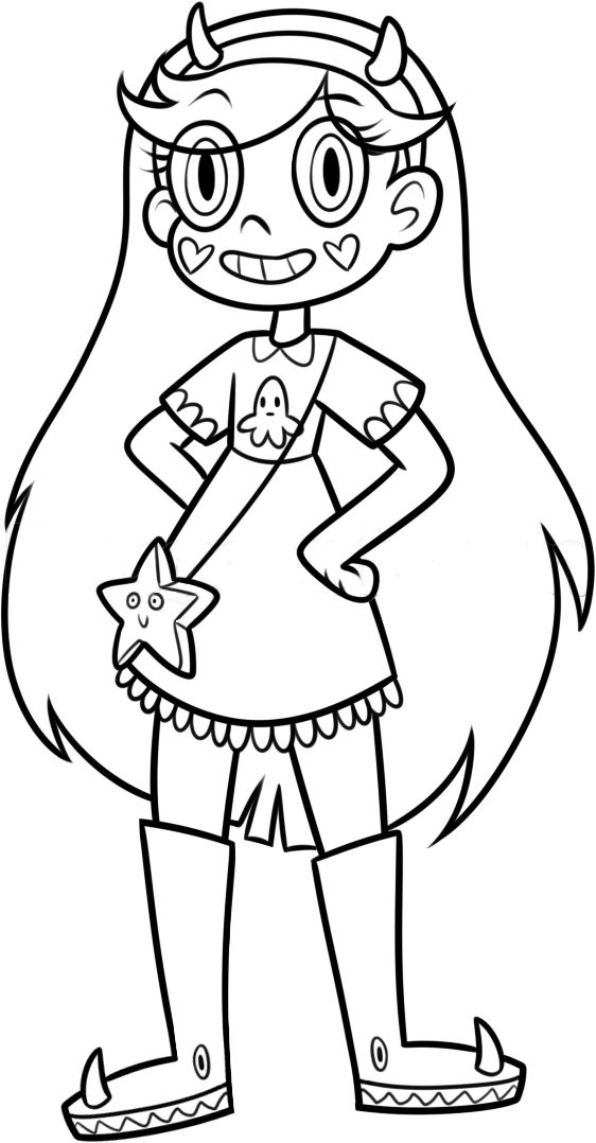 Star vs power of evil (2) coloring page