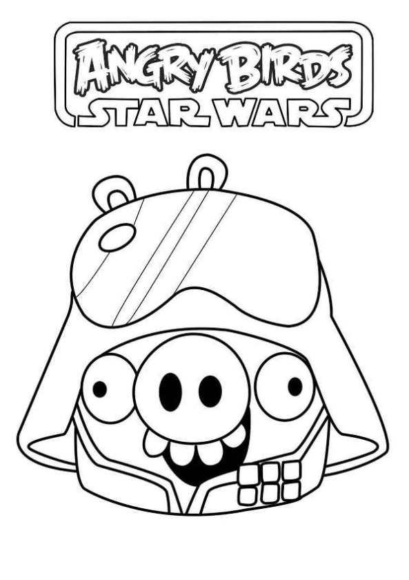 star wars pig coloring page