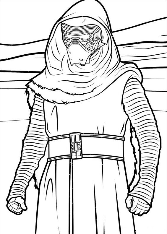 Star Wars The force awakens (4) coloring page