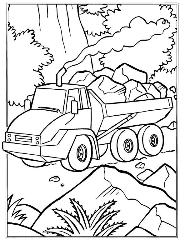 Stenen vervoer kleurplaat