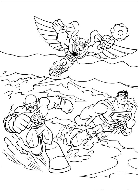 Superfriends (12) coloring page