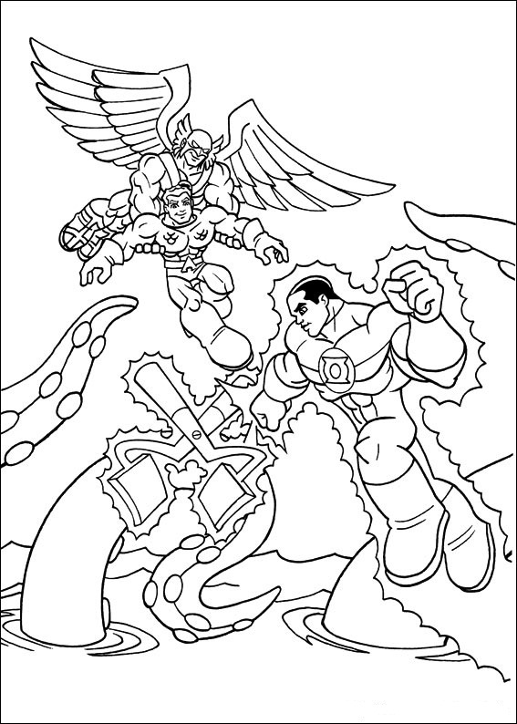 Superfriends (14) coloring page