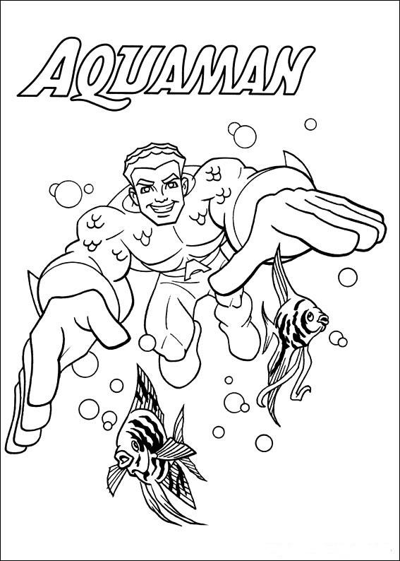 Supervänner Aquaman målarbok
