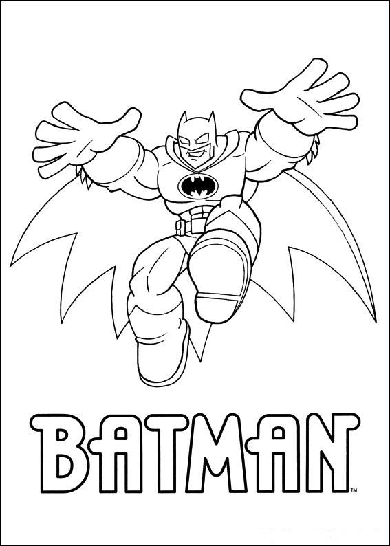 Supervänner - Batman målarbok