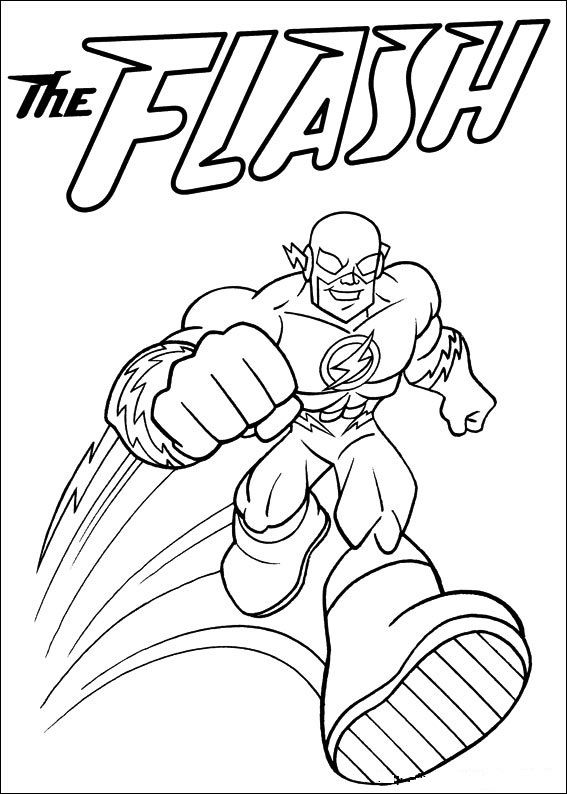 Superfriends - Flash coloring page