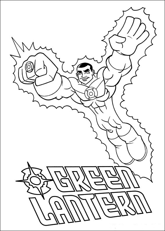 Superfriends - Green Latern coloring page