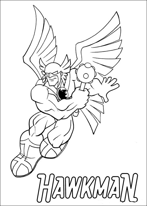 Superfriends - Hawkman coloring page