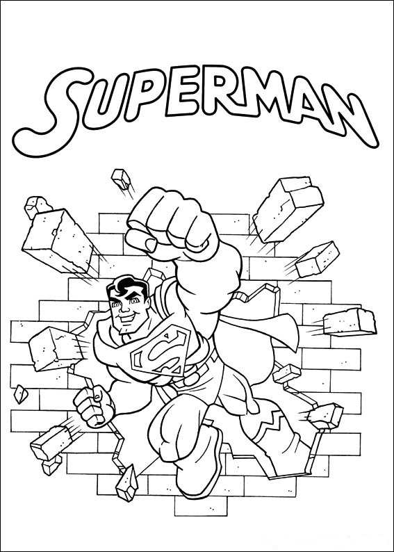 Superfriends - Superman coloring page