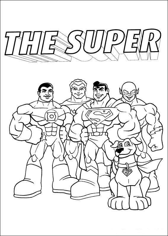 Superfriends coloring page