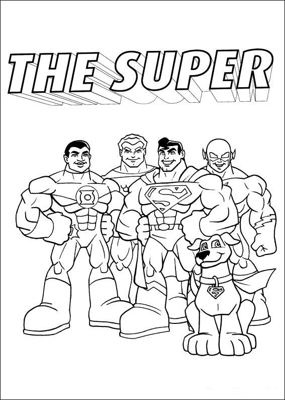 Supervänner målarbok