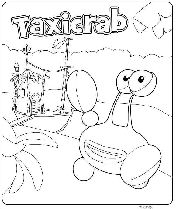 раскраска Такси краб