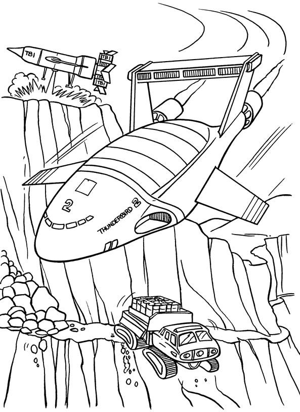 Thunderbids are go (3) coloring page
