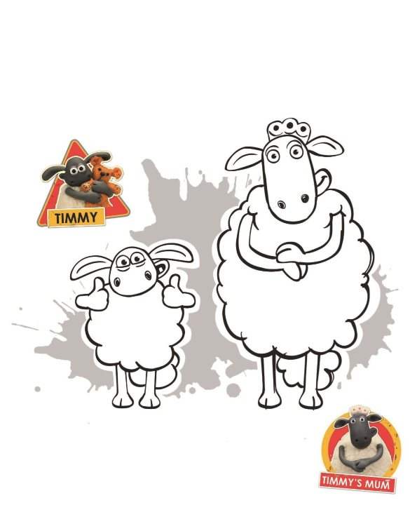 Timmy Mum coloring page