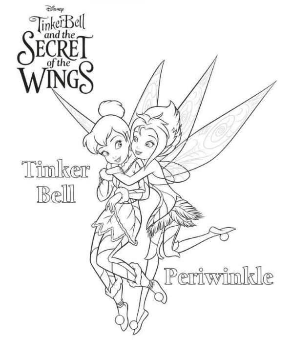 Kleurplaten Van Tinkerbell.Tinkerbell Secret Of The Wings Kleurplaat Jouwkleurplaten