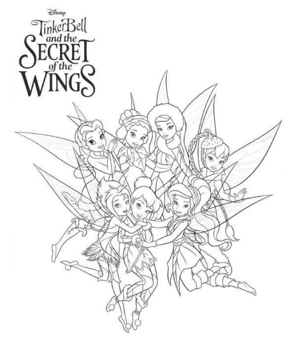 Tinkerbell Secret of the WIngs (2) målarbok