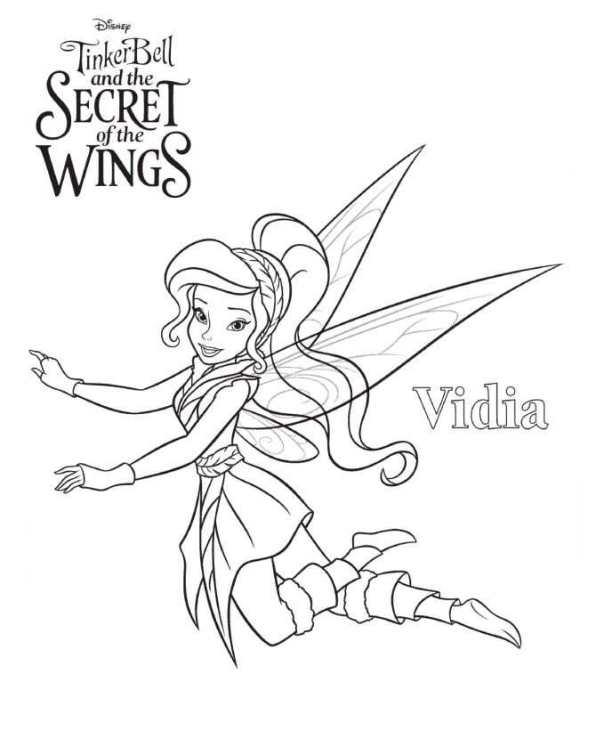 Раскраска Tinkerbell Тайна вин (3)