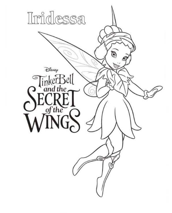 Tinkerbell Secret of the WIngs (6) målarbok