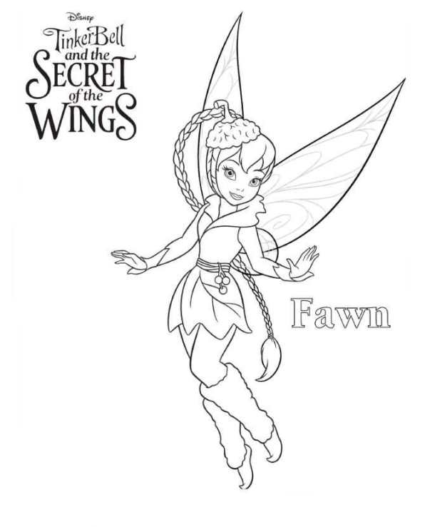 Tinkerbell Secret of the WIngs (7) målarbok