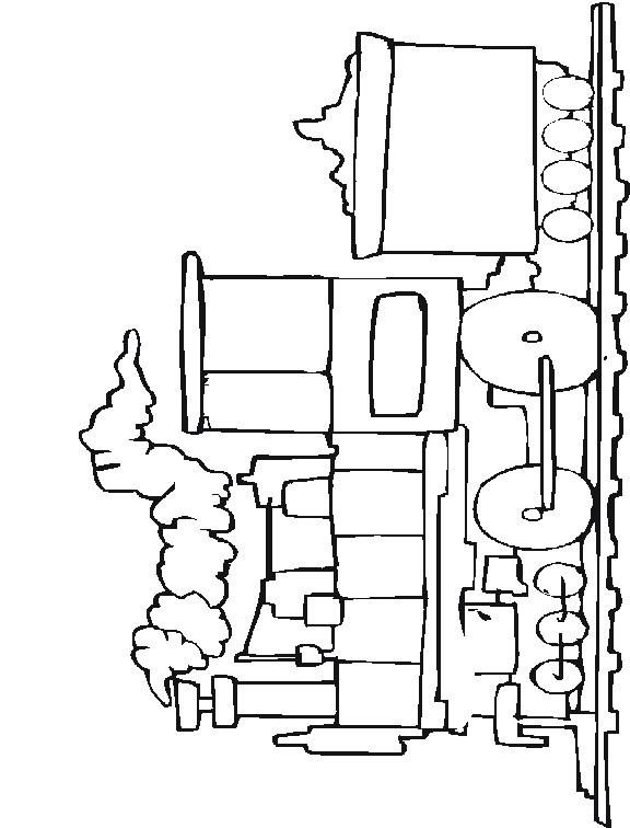 Treinen (6) kleurplaat