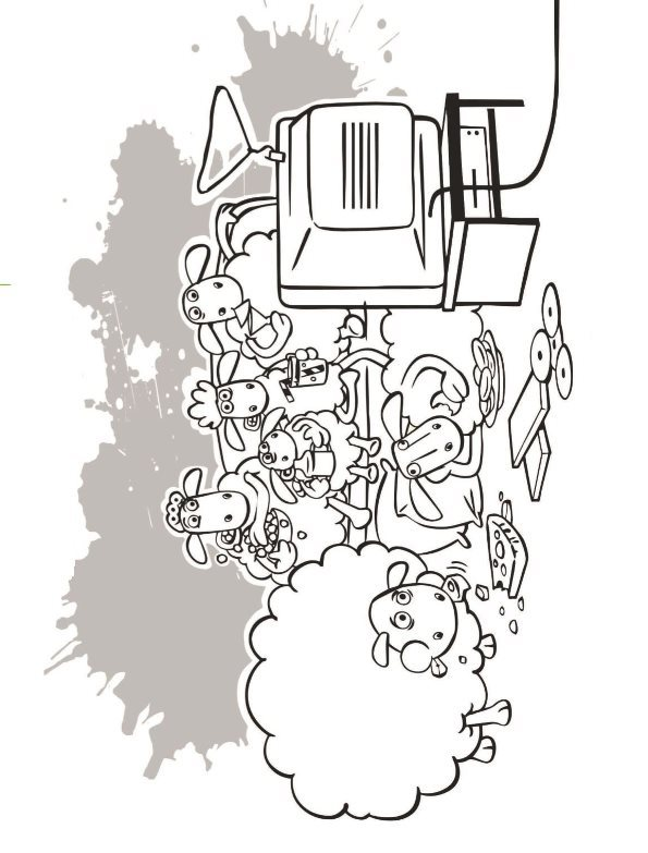 TV coloring page