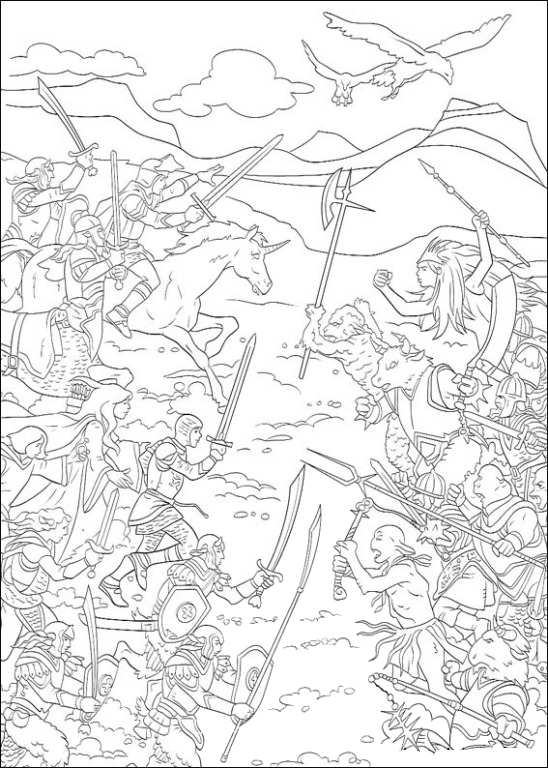 Battle coloring page