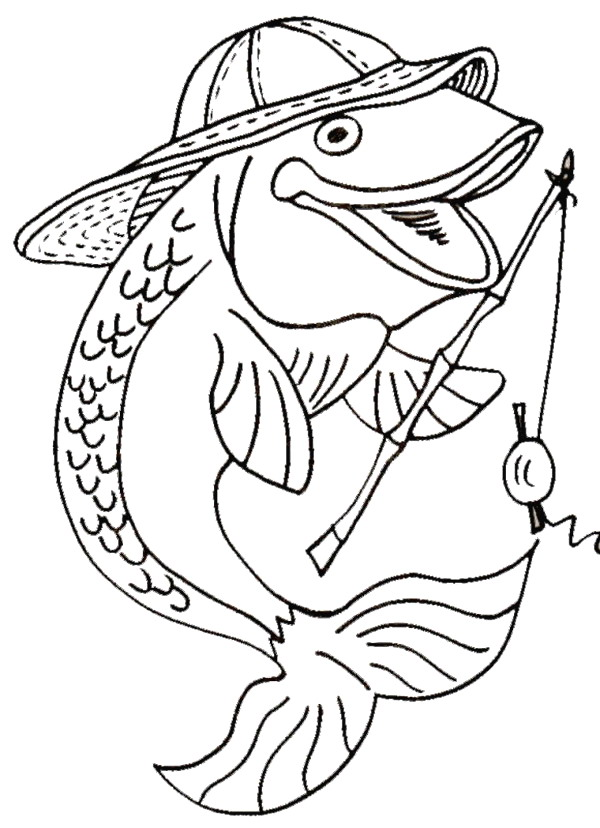 Fish (16) coloring page