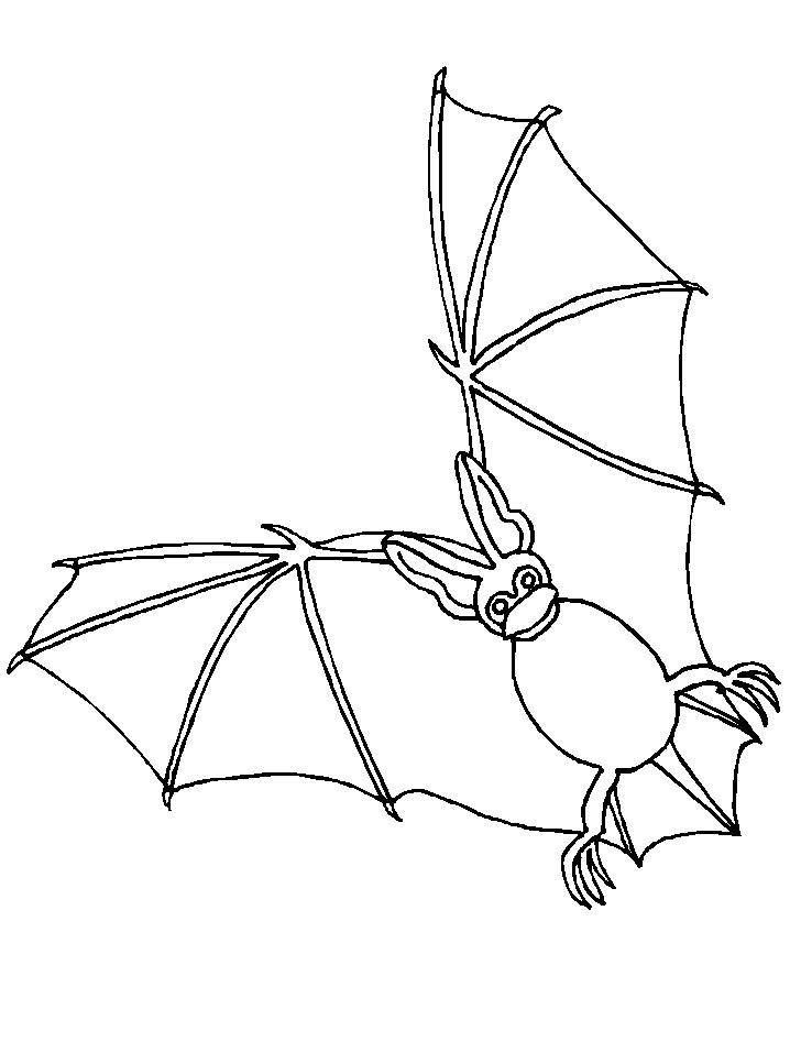 Bats (6) coloring page