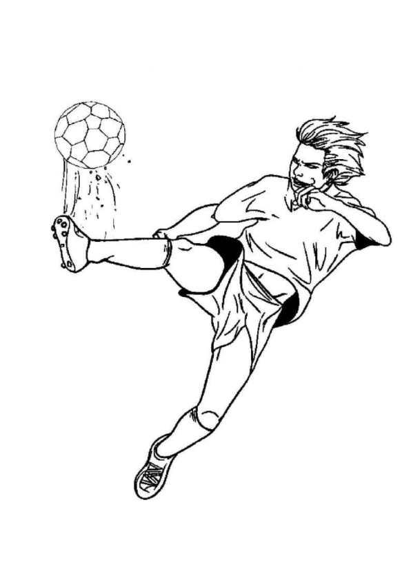 Fotboll (1) målarbok