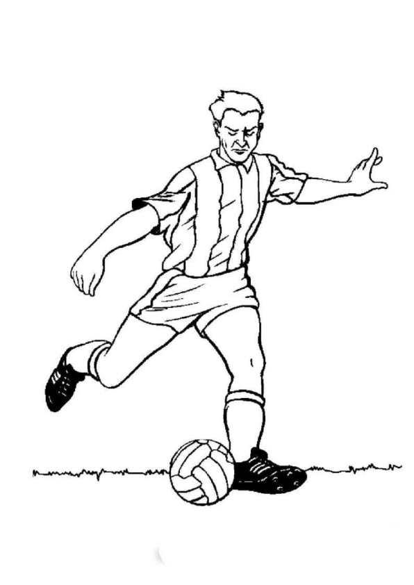 Fotboll (3) målarbok