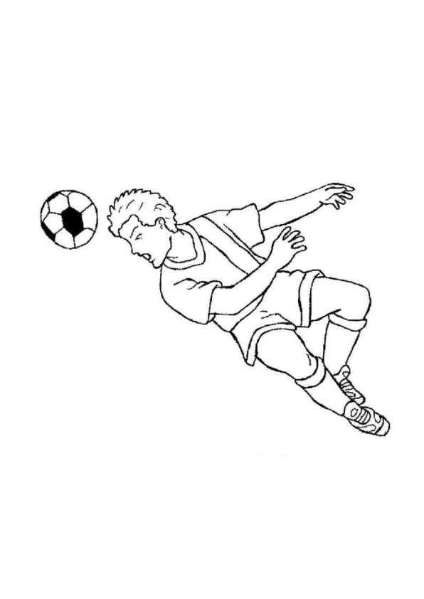Fotboll (4) målarbok