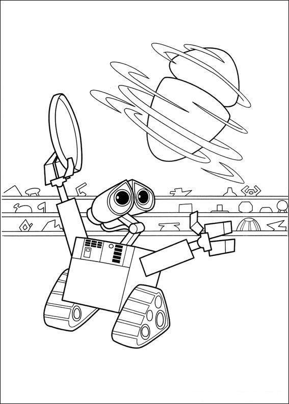 Wall-e (11) målarbok