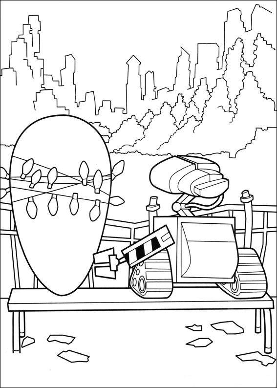 Wall-e (12) målarbok