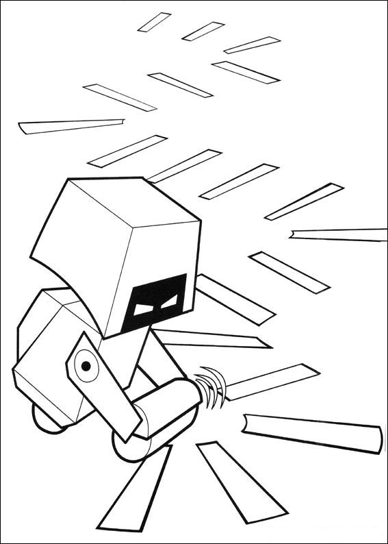 Wall-e (16) målarbok