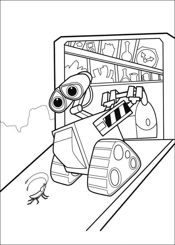 Wall-e (2) målarbok