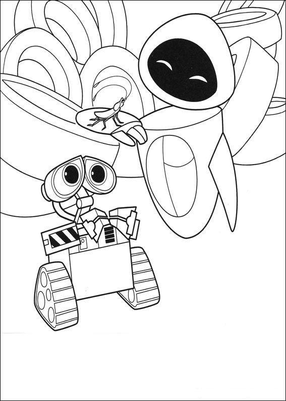Wall-e (35) målarbok