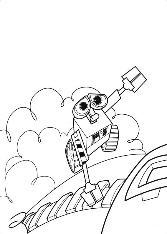 Wall-e (40) målarbok