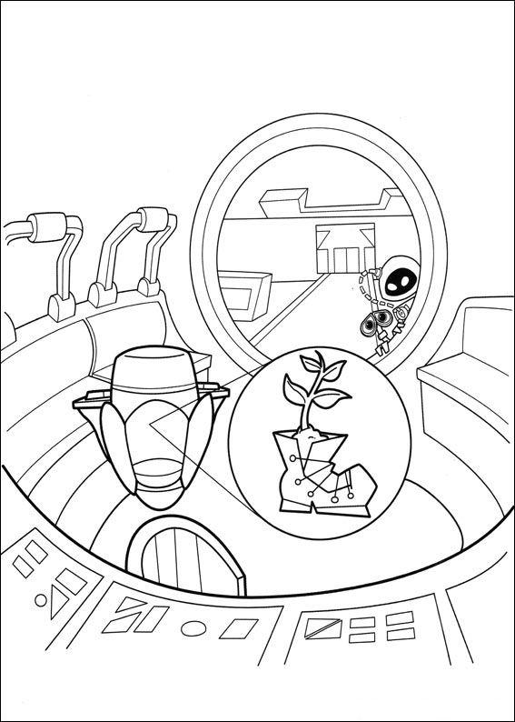 Wall-e (41) målarbok