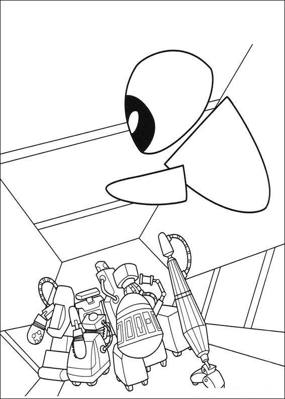 Wall-e (52) målarbok