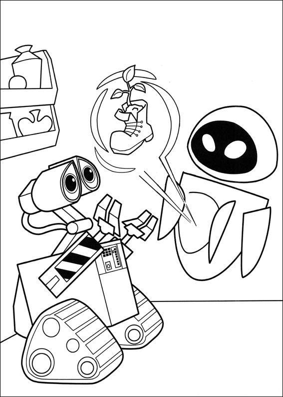 Wall-e (6) målarbok
