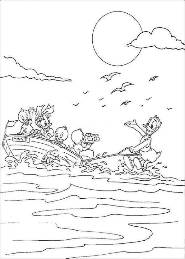 Vattenskidåkning (4) målarbok