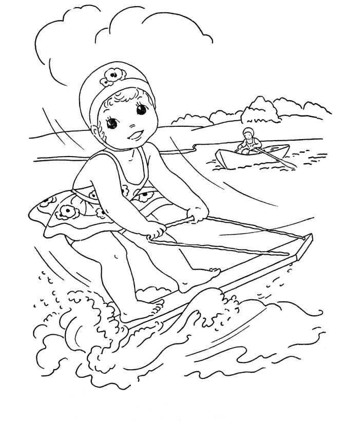 Vattenskidåkning (6) målarbok
