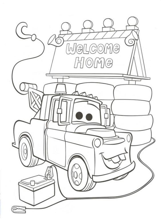 Раскраска Добро пожаловать домой