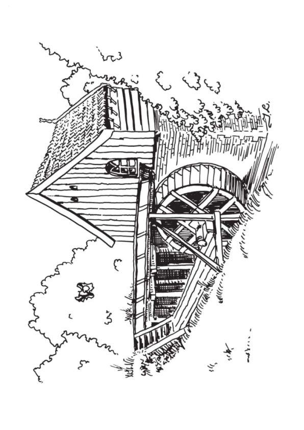 Windmills (6) målarbok